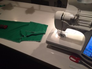 At the sewingtable